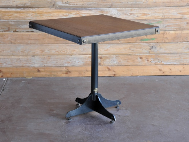 Bistro table with rivets